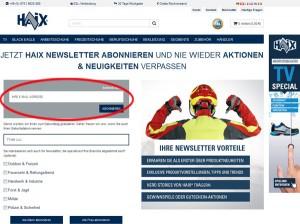 haix Gutscheincode Newsletter