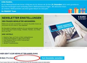 franzis.de Deutschland Newsletter