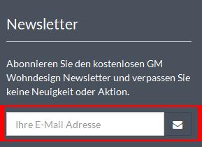 Gm Wohndesign.de Deutschland Newsletter