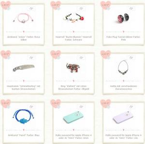 lovely things.com Deutschland Bsp Produkte