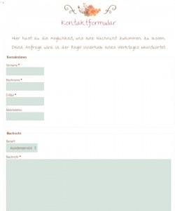 Lovely things.com Deutschland Kontaktformular