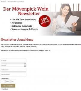 moevenpick wein.de Deutschland Newsletter