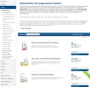 premiumtierfutter.de Deutschland Bsp Produkte