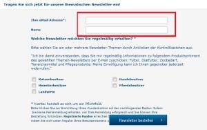 premiumtierfutter.de Deutschland Newsletter
